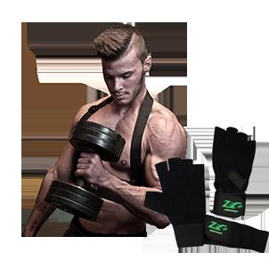 Trainingshandschuhe und Fitnesshandschuhe mit Handgelenkbandage