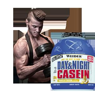 Casein Protein für die Nacht zum Muskelaufbau