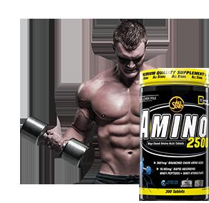Aminosäuren für Muskelaufbau in Kapseln und Pulver