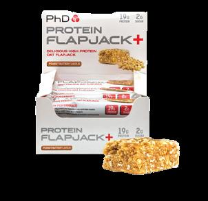 Flapjack Riegel aus Protein und Haferflocken für Sportler