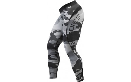 Better Bodies Camo Long Tights - grey