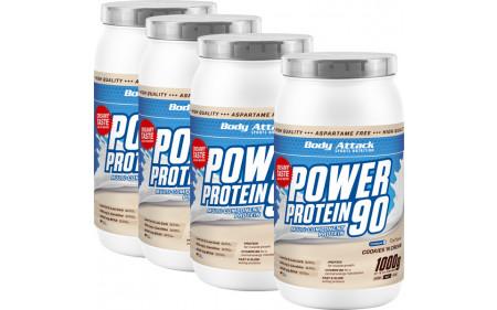 Body Attack - Protein 90  4x1000g Dose