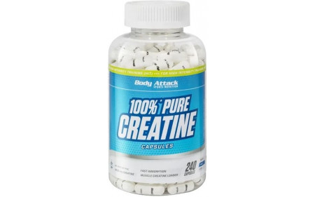 Body Attack 100% Pure Creatine - 240 Kapseln