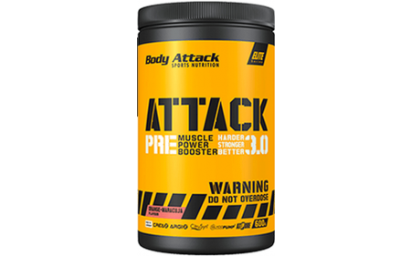 Body Attack Pre Attack 3.0 Muscle Booster - 600g