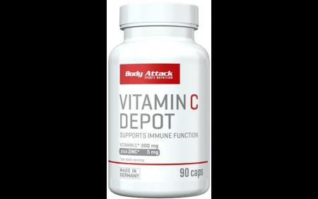 Body Attack Vitamin C Depot + Zink - 90 Kapseln