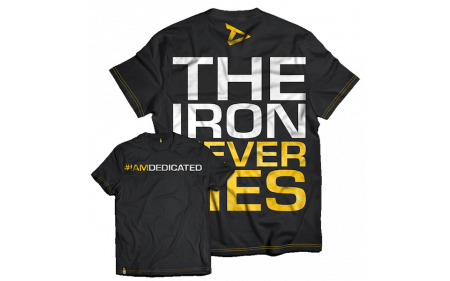 Dedicated Nutrition T-Shirt The Iron Never Lies