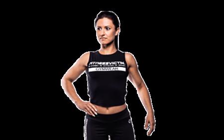 Fitnessvictim Women Backless Crop Top - schwarz