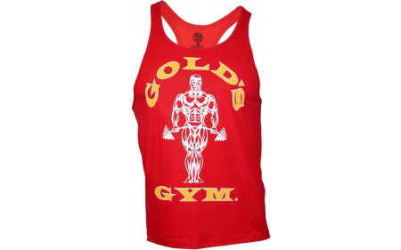 Golds Gym Classic Stringer Tank Top - red