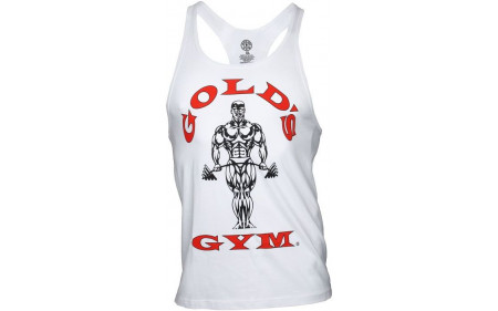 Golds Gym Classic Stringer Tank Top - white