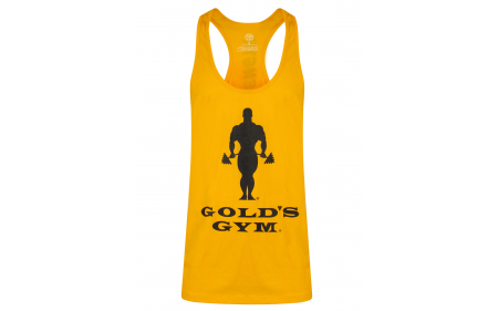 Golds Gym Muscle Joe Slogan Premium Tank - Gold