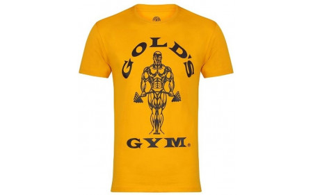 Golds Gym Muscle Joe T-Shirt - gold