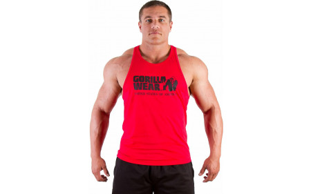 Gorilla Wear Classic Tank Top - tango red