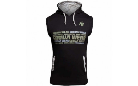 Gorilla Wear Melbourne S/L Hooded T-Shirt - black