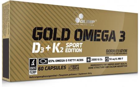 Olimp Gold Omega-3 + D3 + K2 - 60 Kapseln
