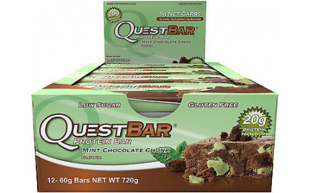 Quest Nutrition Quest Bar - 12 x 60g Riegel-Mint Chocolate Chunk
