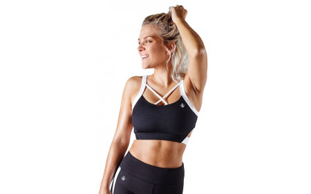 Workout Empire Strike Bra - Obsidian Schwarz