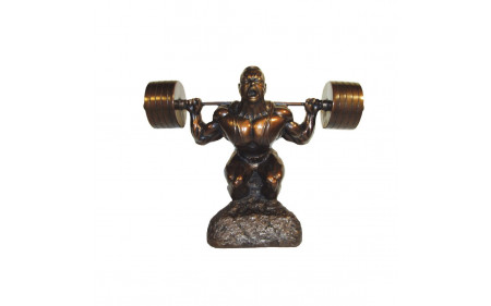 Bodybuilding Skulptur Man - Powerlifting Squat