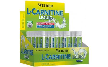 Weider L-Carnitine 1800mg Liquid - 20 Ampullen á 25ml