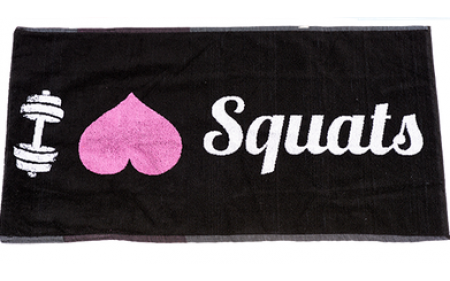 XXL Nutrition Gym Handtuch I Love Squats