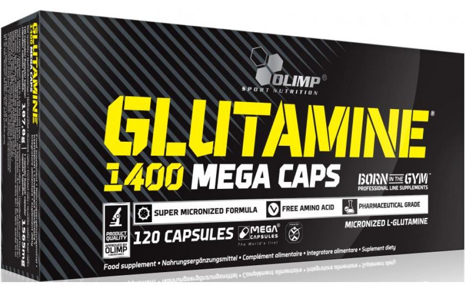 Olimp Glutamine 1400 Mega Caps - 120 Kapseln