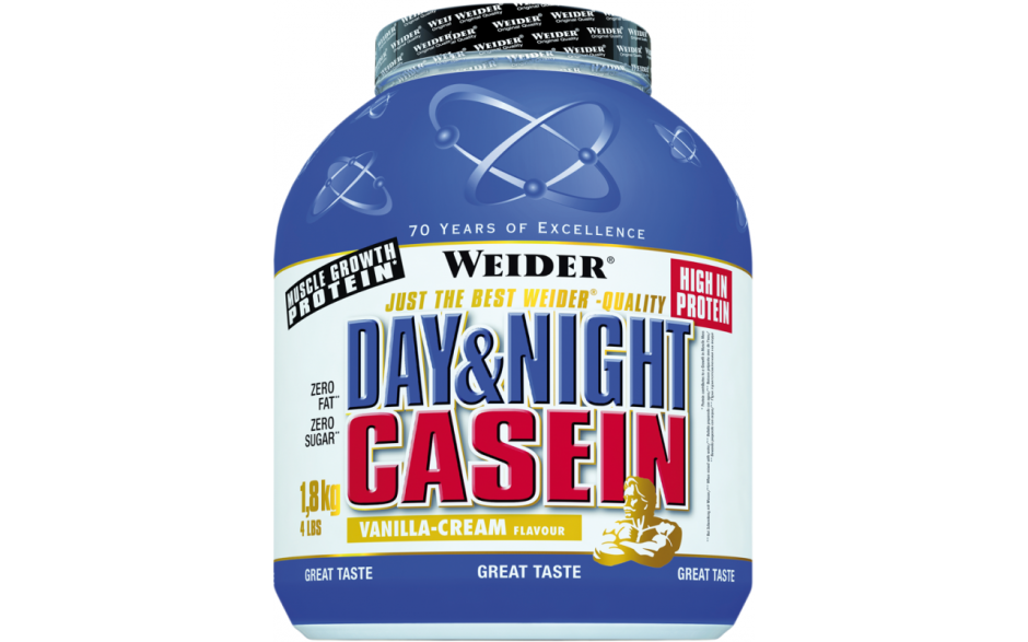 Weider Day & Night Casein - 1,8kg
