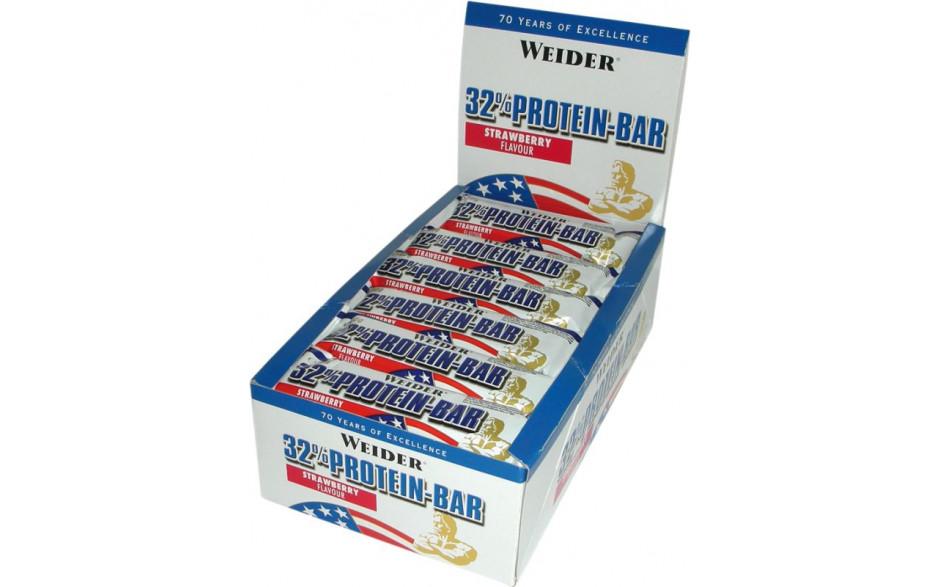 Weider Protein Bar 32% - 24 Riegel á 60g