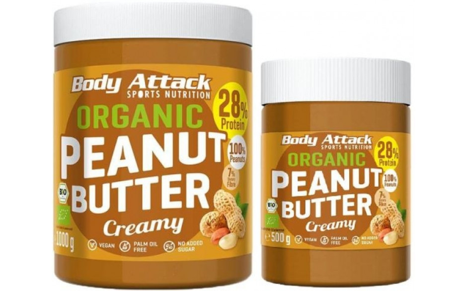 Body Attack Organic Peanut Butter