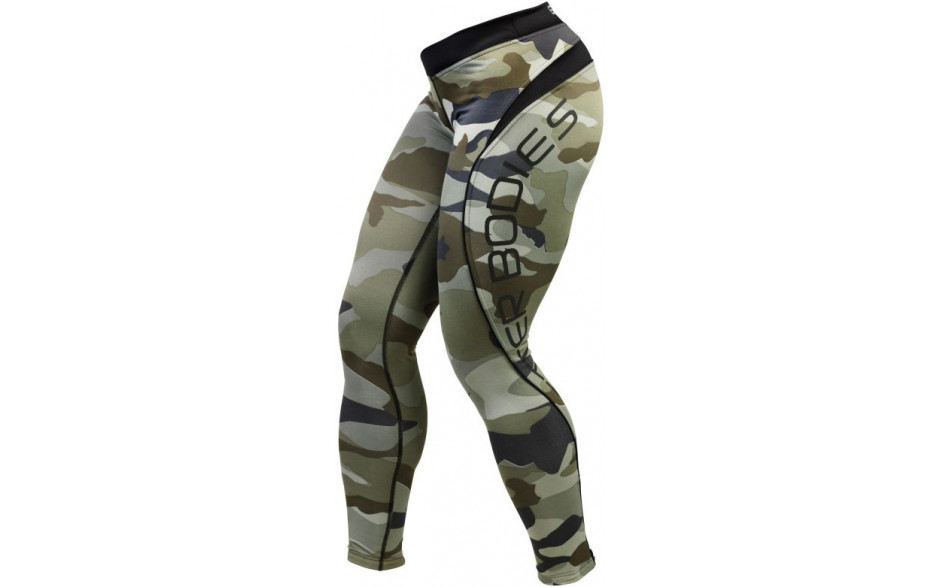 Better Bodies Camo long tights - camo green