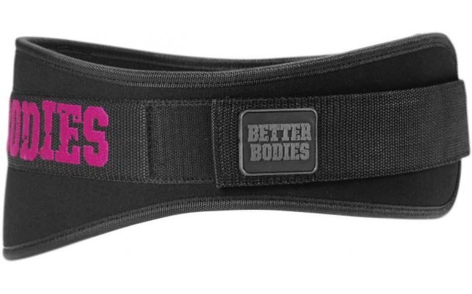 Better Bodies Womens Gym Belt - schwarz / pink