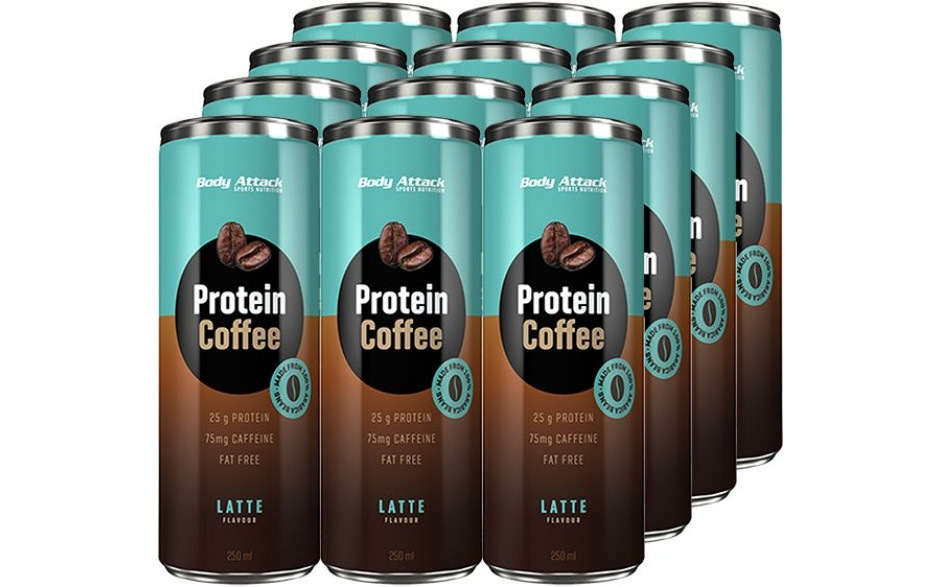 Body Attack Protein Coffee - 12x 250ml