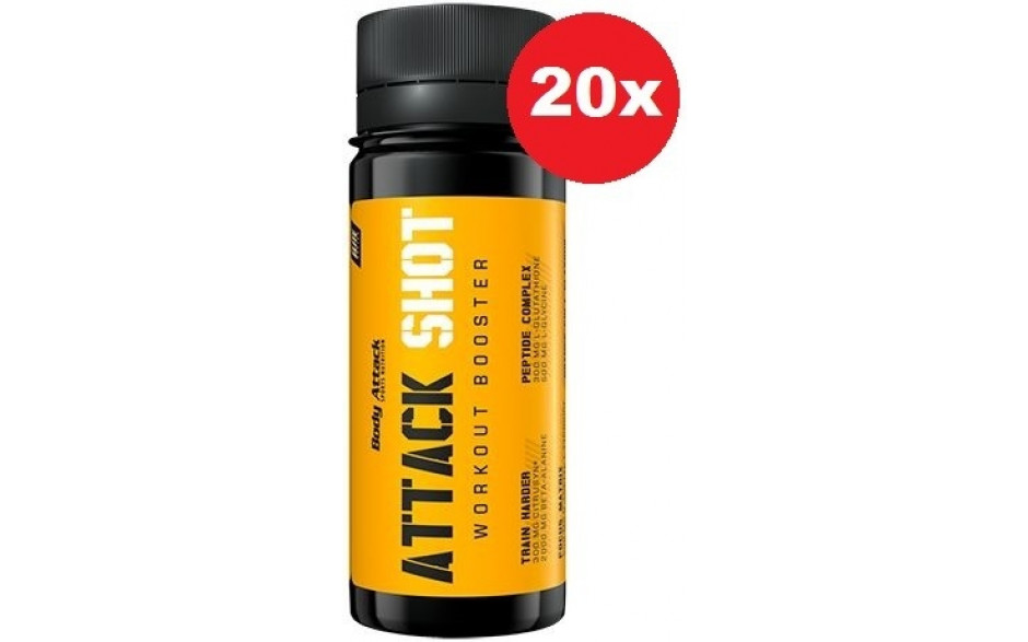 Body Attack Attack Shot - 20 x 60ml