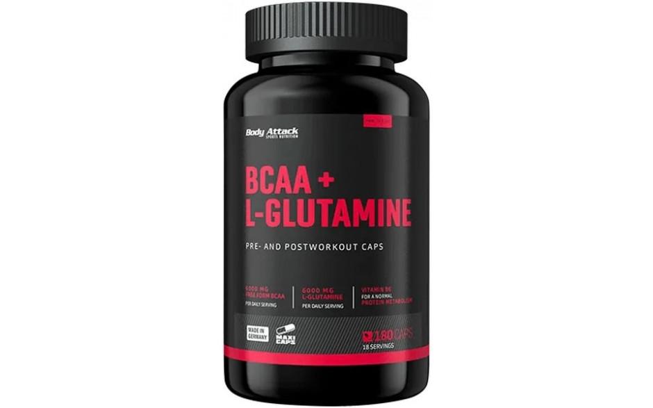Body Attack BCAA + L-Glutamine - 180 Kapseln