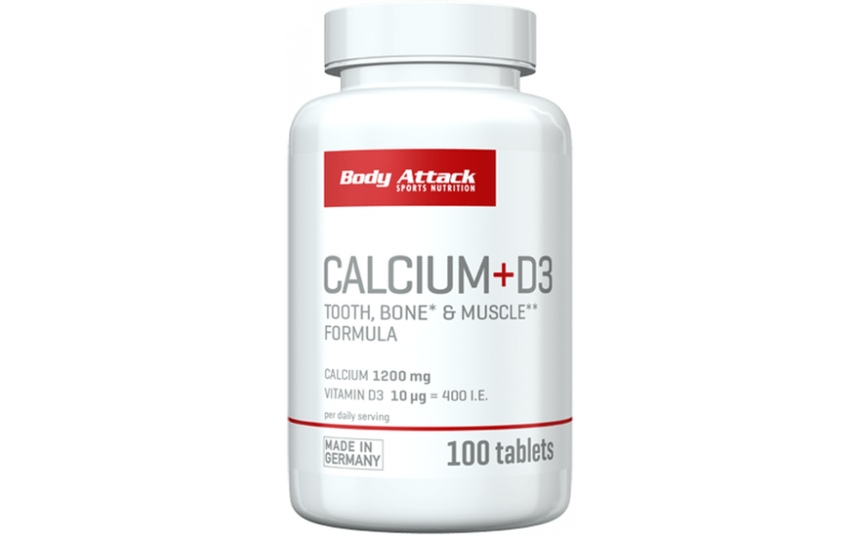 Body Attack Calcium + D3 - 100 Tabletten