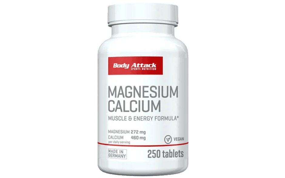 Body Attack Magnesium + Calcium - 250 Tabletten