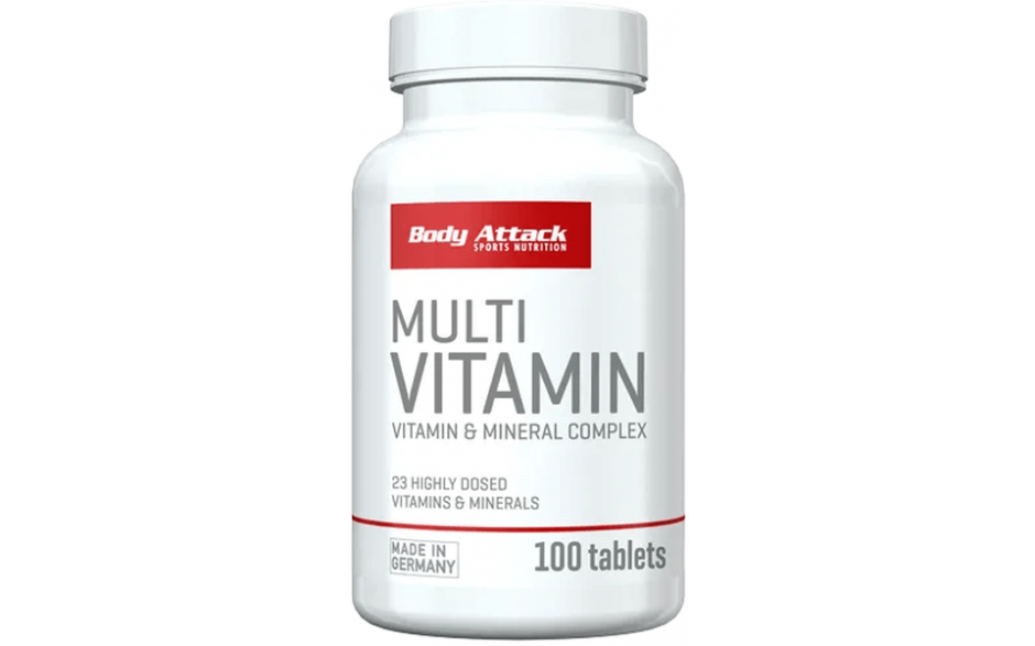 Body Attack Multi-Vitamin - 100 Tabletten