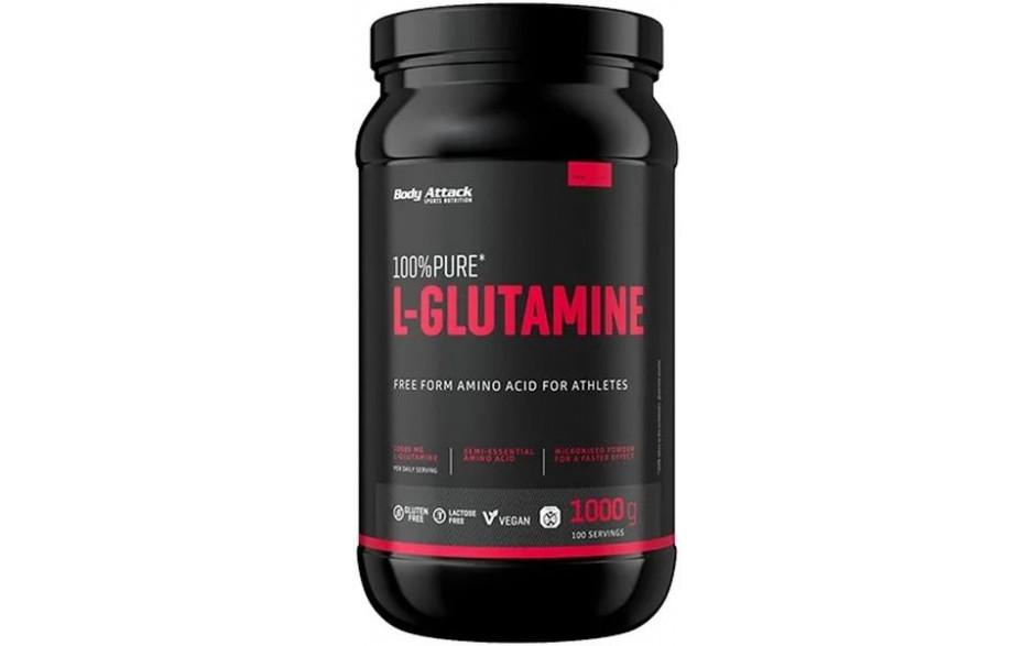 Body Attack 100% Pure L-Glutamine - 1000g