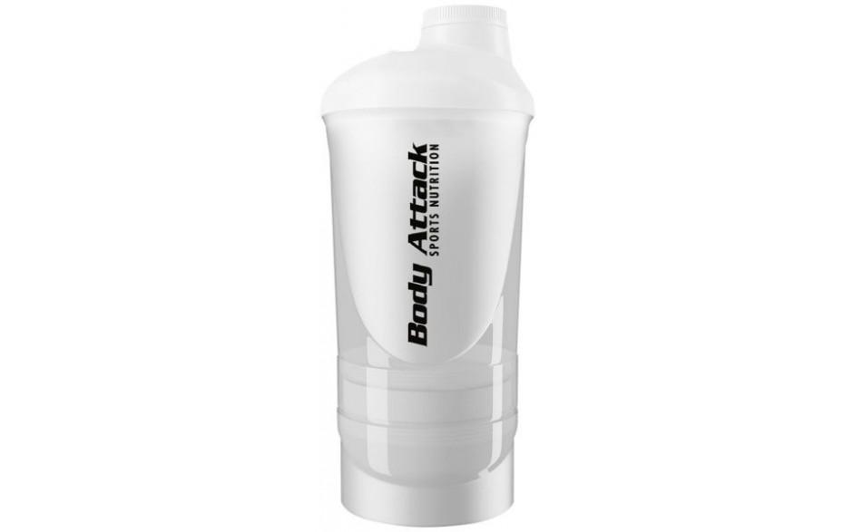 Body Attack Shaker Shakeone 600 ml - White