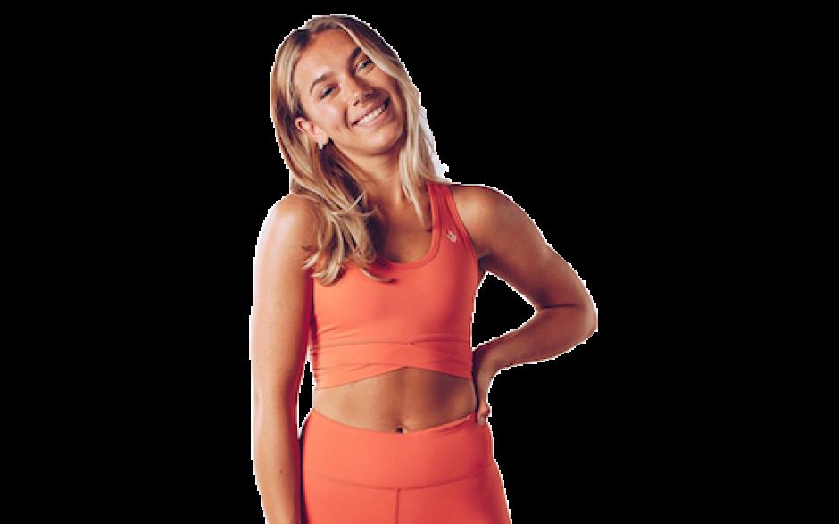 Workout Empire Core Wrap Bra - Ember Glow