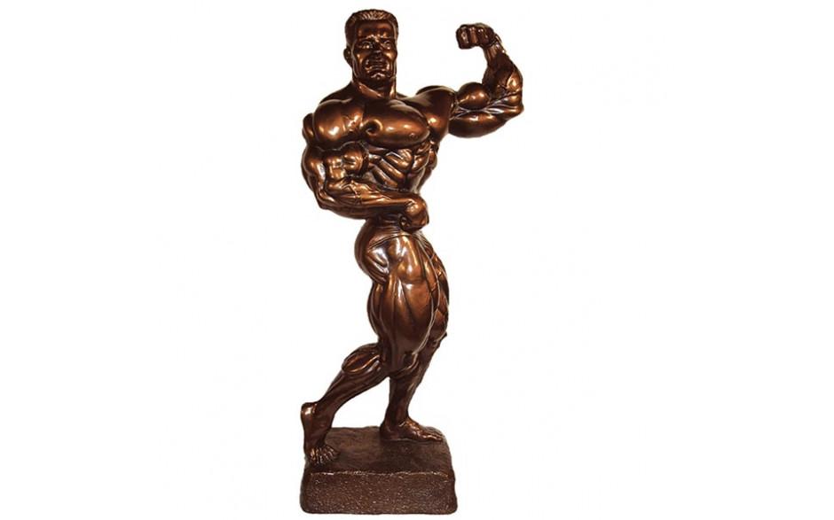 Bodybuilding Figur  Side Shot 34cm Bronze