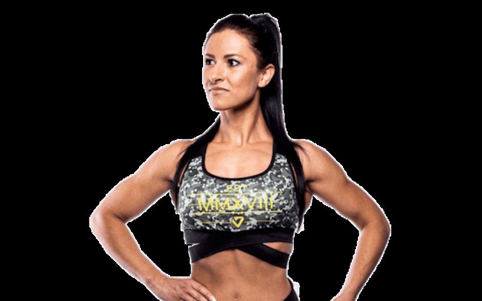 Fitnessvictim Women Logo Cross Bra - camouflage