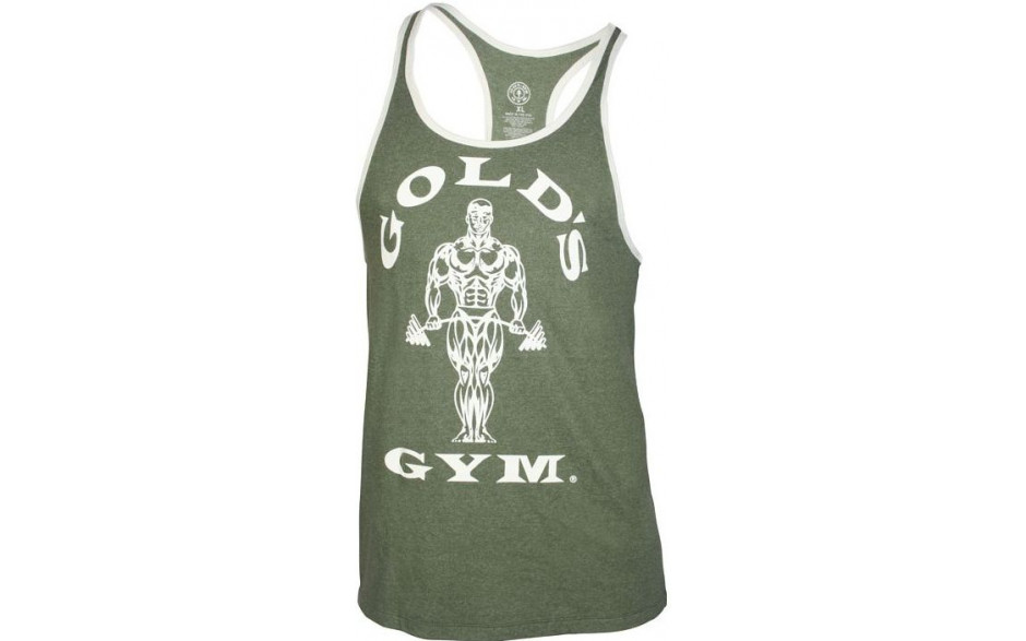 Golds Gym Muscle Joe Contrast Stringer Tank - army
