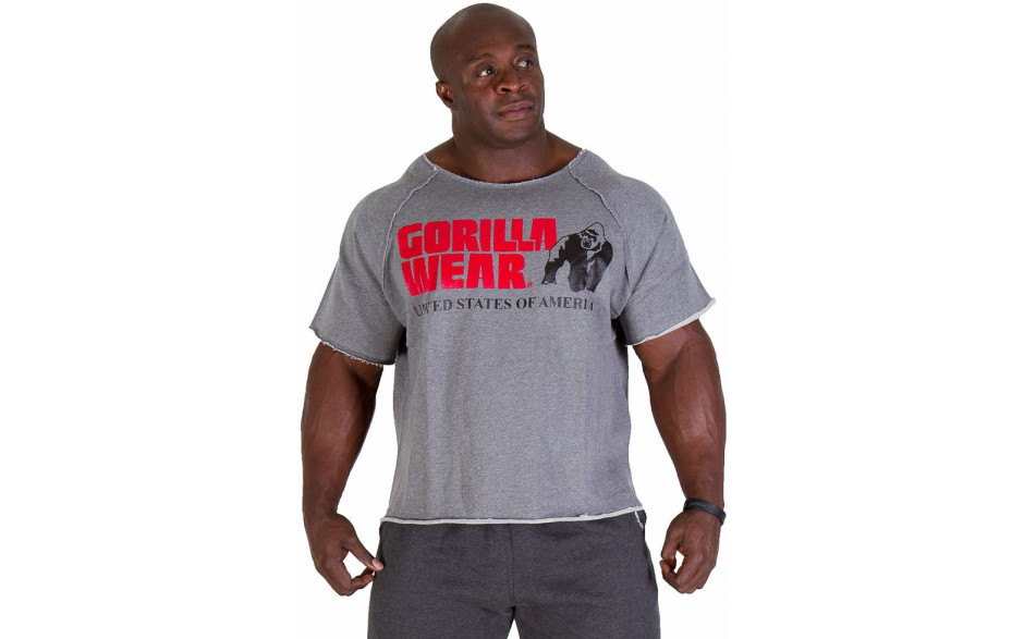 Gorilla Wear Classic Logo Work Out Top - grey