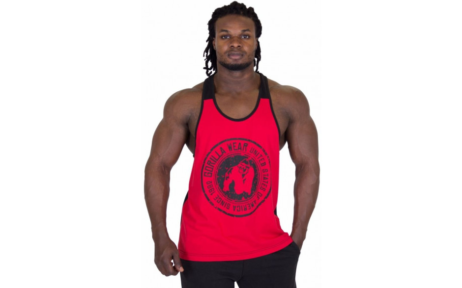 Gorilla Wear Roswell Tank Top - Red/Black