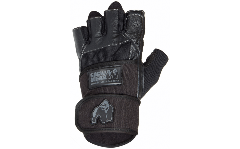Gorilla Wear Hardcore Wrist Wrap Gloves Black