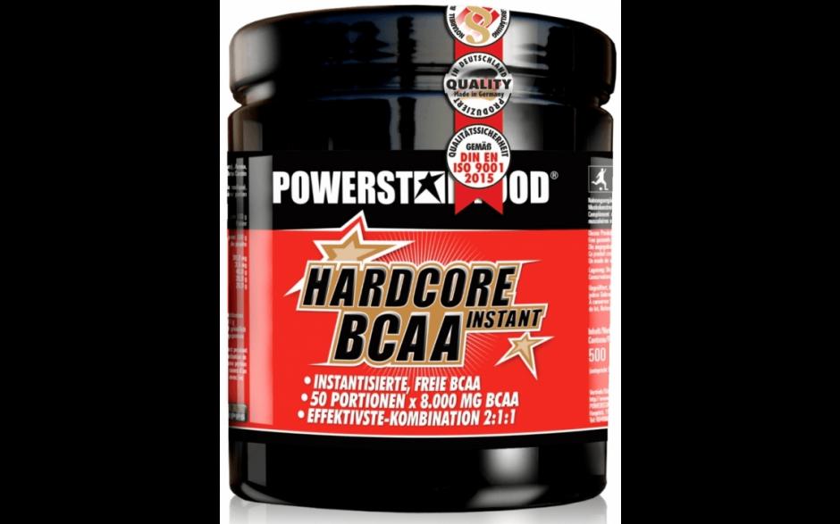 Powerstar Hardcore BCAA Instant - 500g Pulver