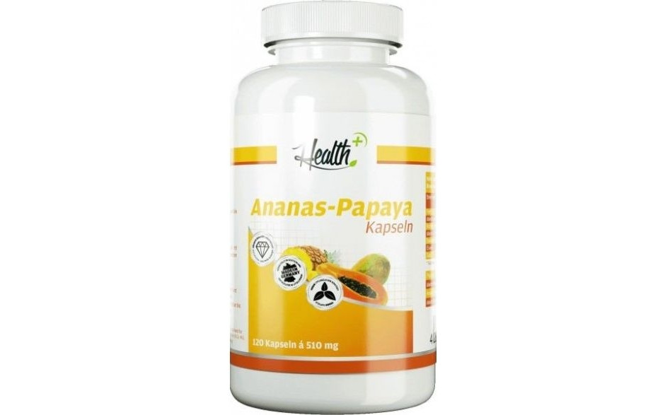 Health+ Ananas Papaya Enzyme - 120 Kapseln