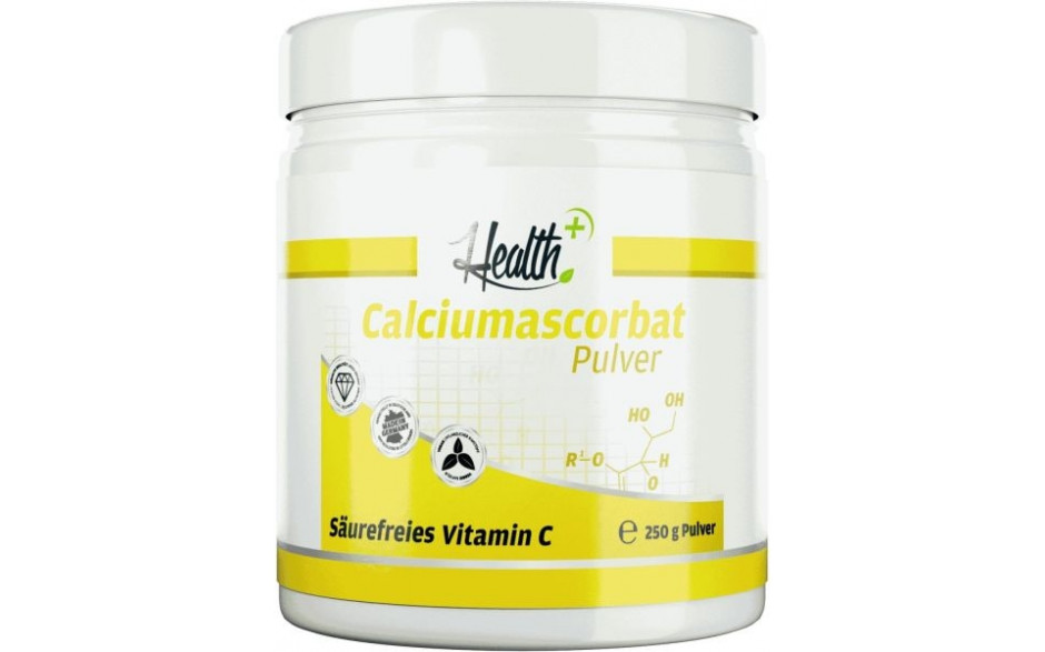 Health+ Calciumascorbat Pulver - Säurefreies Vitamin C - 250g Dose