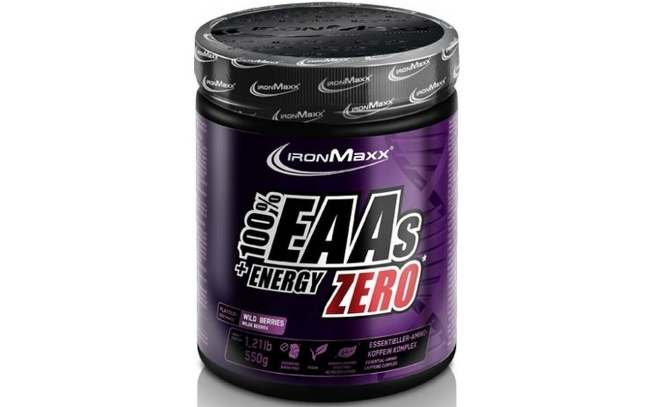 Ironmaxx EAAs + Energy Zero - 550 g