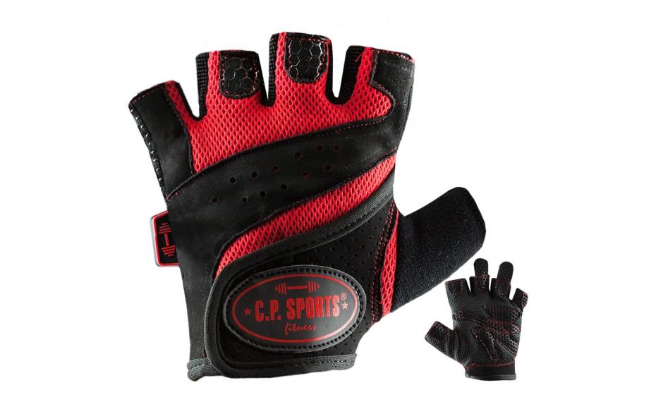 C.P. Sports Lady Gym Fitnesshandschuh - schwarz rot