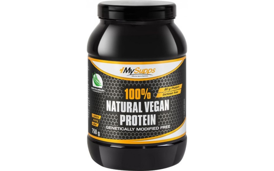 My Supps 100% Natural Vegan Protein - 750g
